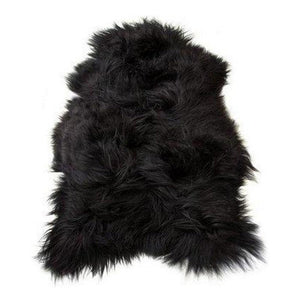Large Black Icelandic Sheepskin