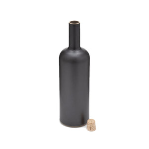 Hasami Porcelain Bottle, Black