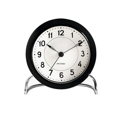 Arne Jacobsen Station Table Alarm Clock Black/White