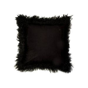 Black Icelandic Sheepskin Pillow