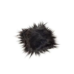 Black Icelandic Sheepskin Chairpad