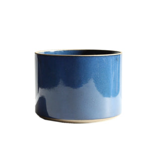 Hasami Porcelain Planter, Large Gloss Blue *discontinued
