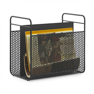 Analog Magazine Rack, Black