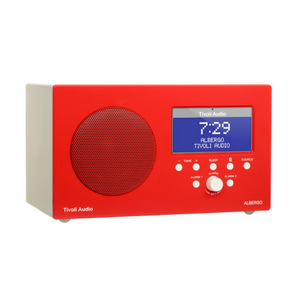 Albergo Clock Radio, Bluetooth, Red