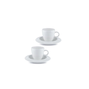 Bavero, Set/2 Mocha Cups/Saucers