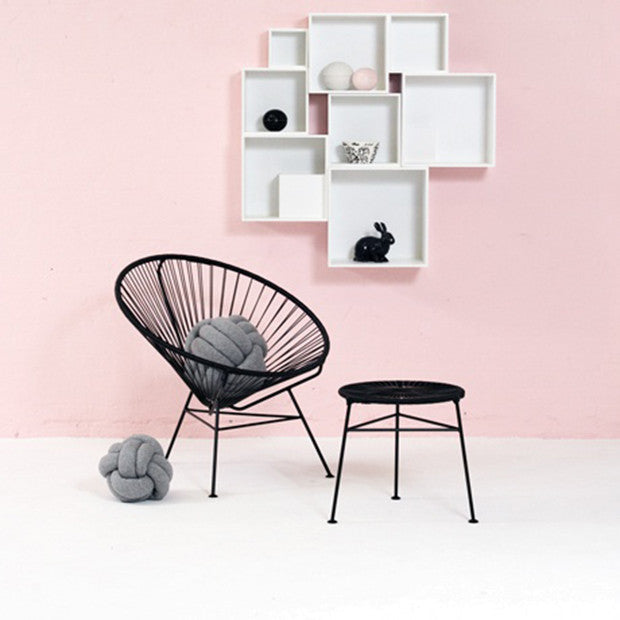 Condesa Chair, Black Cord/ Black Frame