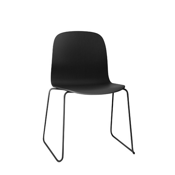 Visu Chair, Metal Base, Black/Black