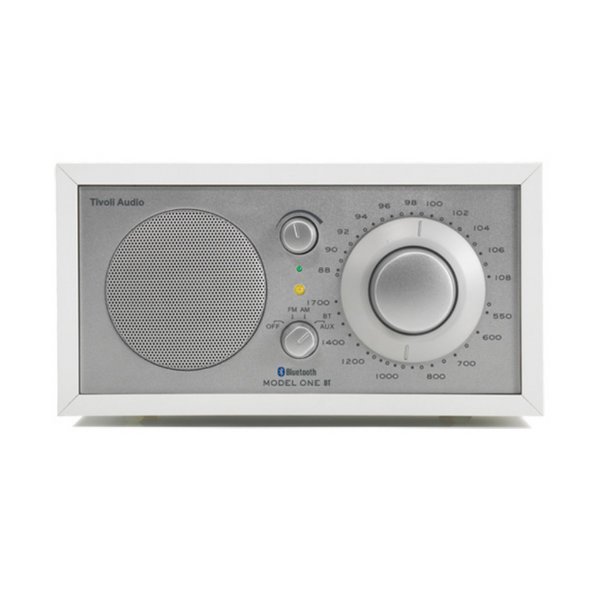 Model One Bluetooth Radio, White/Silver