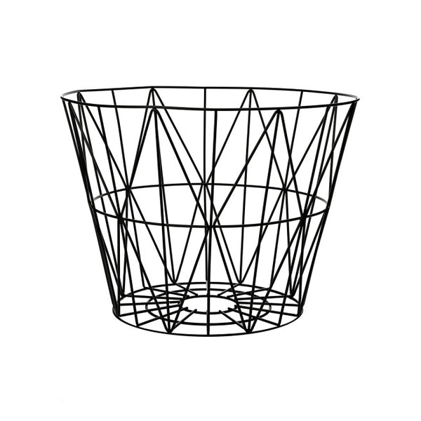 Wire Basket, Medium, Black  50 x 40cm