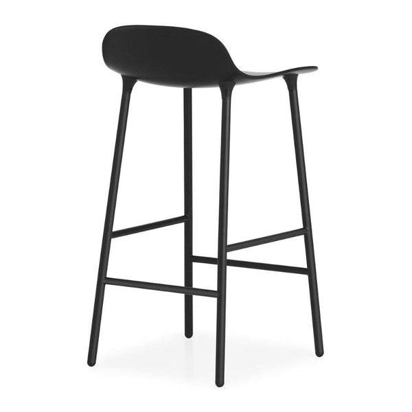 Form Stool 65cm Black/Black steel base
