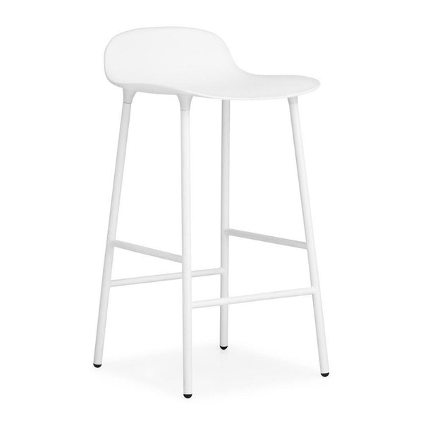 Form Stool 65cm White/White steel base