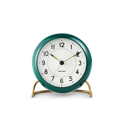 Arne Jacobsen Station Table Alarm Clock Green/White