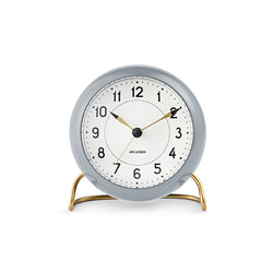 Arne Jacobsen Station Table Alarm Clock Grey/White