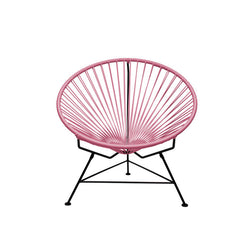 Condesa Chair, Coral Pink Cord / Black Frame