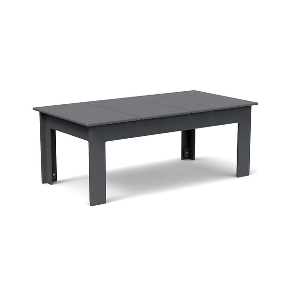 "Lollygagger Cocktail Table, 42"" Rectangle, Charcoal Grey"