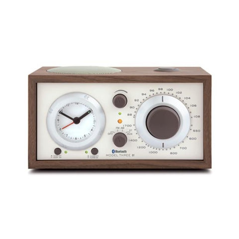 Model Three Radio, Bluetooth, Classic Walnut, Beige