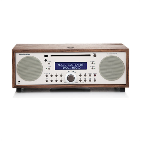Music System, Bluetooth, Classic Walnut/Beige