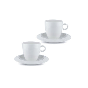 Bavero, Set/2 Coffee Cups/Saucers