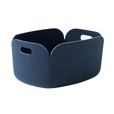 Restore Felt Storage Basket, Midnight Blue