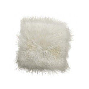White Icelandic Sheepskin Pillow