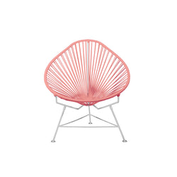 Acapulco Chair, Coral Pink Cord / White Frame