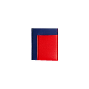 Pocket Wallet, Cobalt/Red