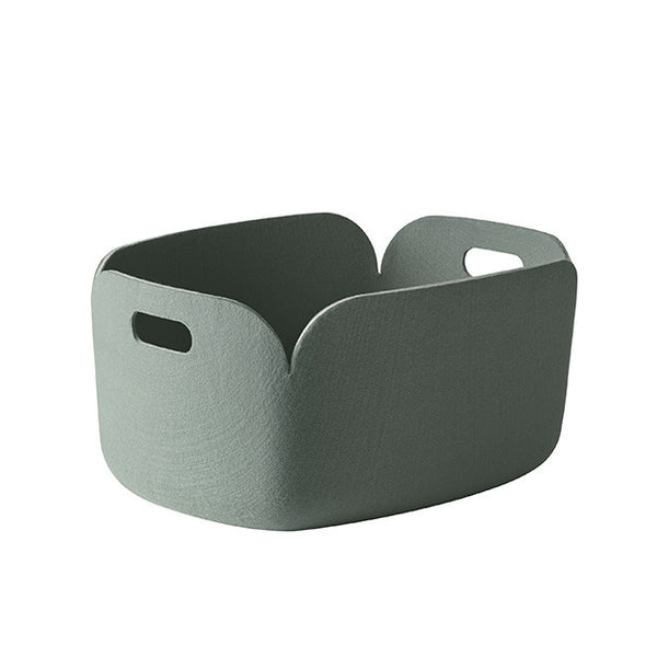 Restore Felt Storage Basket, Dusty Green