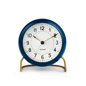 Arne Jacobsen Station Table Alarm Clock, Petrol