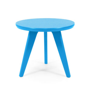 "Satellite End Table, Round, 18"" Sky Blue"