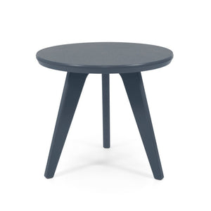 "Satellite End Table, Round, 18"" Charcoal Grey"