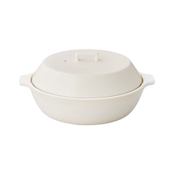 Donabe 85 oz Steamer, White