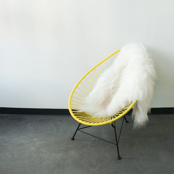 Acapulco Chair, Yellow Cord/Black Base
