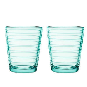 Aino Aalto Tumbler, 7.5 oz, Sea Blue, Set of 2