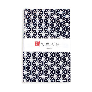 Tenugui Hand Towel, Black and White Pattern