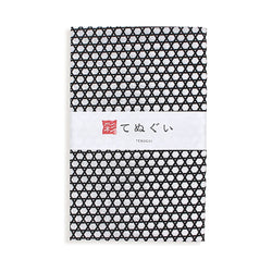 Tenugui Hand Towel, Grey Pattern