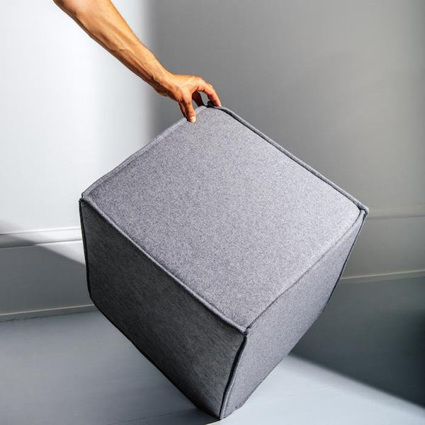 SPACE Pouf, 620 light grey,  Felt