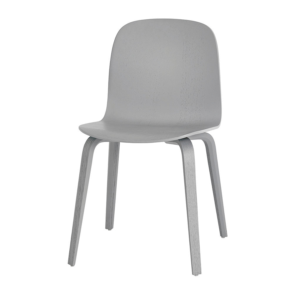 Visu Chair, Wood Base/Wood Shell, Grey
