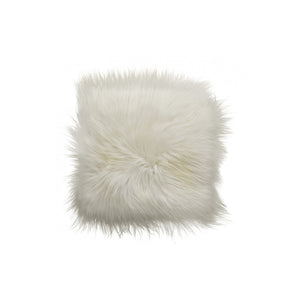 White Icelandic Sheepskin Chairpad