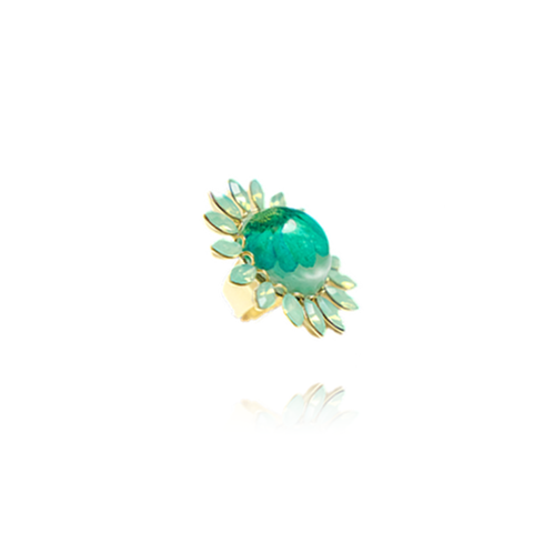 """Blue Daisy"" Ring"