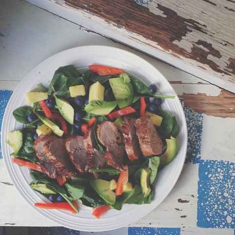 Island Pork Tenderloin Salad via Sudara