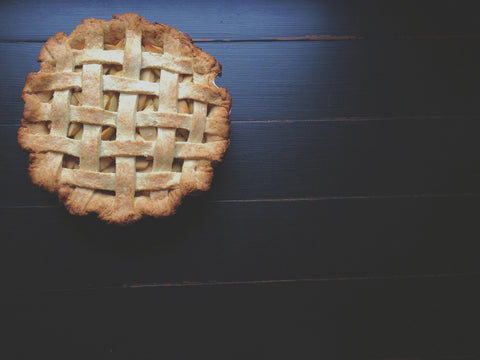 Mamas apple pie with lattice crust