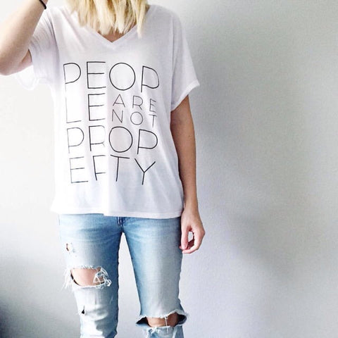 People Are Not Property Tee