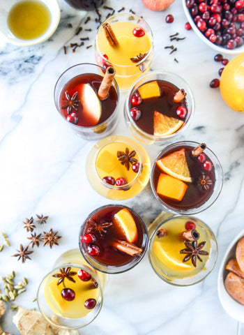 Mulled Red and White Wine for Holiday Parties