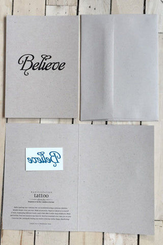 Conscious Ink Tattoo Greeting Card Believe