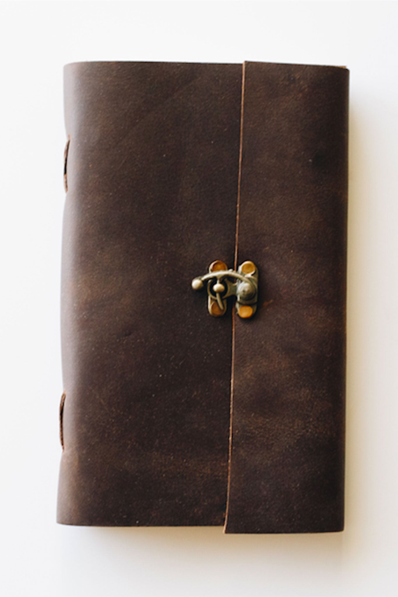 Skipping Stone Classic Leather Journal with Latch