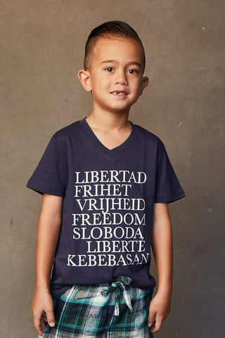 Freedom Tee V Neck- Boy's