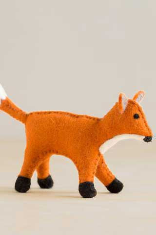 Handfelted Fox