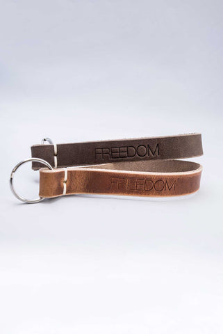 Triumph Leather Freedom Keychain