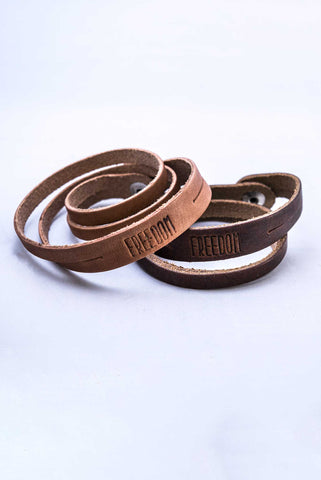 Triumph Leather Freedom Double Wrap Bracelet