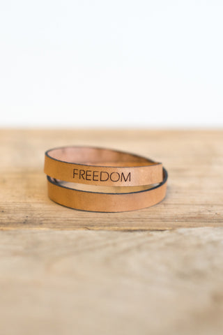 Leather Freedom Wrap Bracelet
